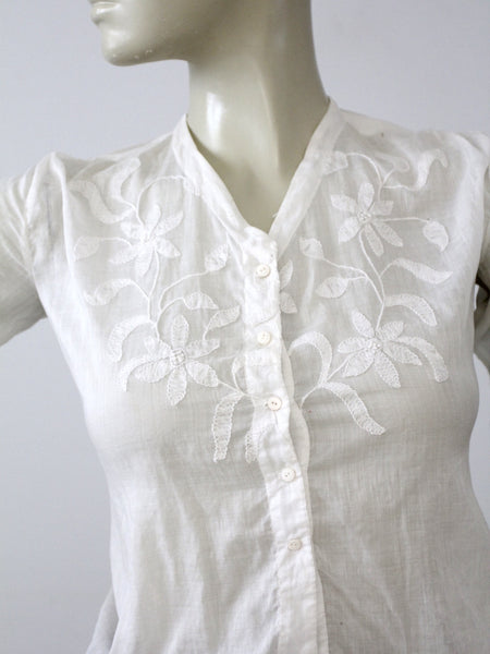antique Edwardian top with embroidery