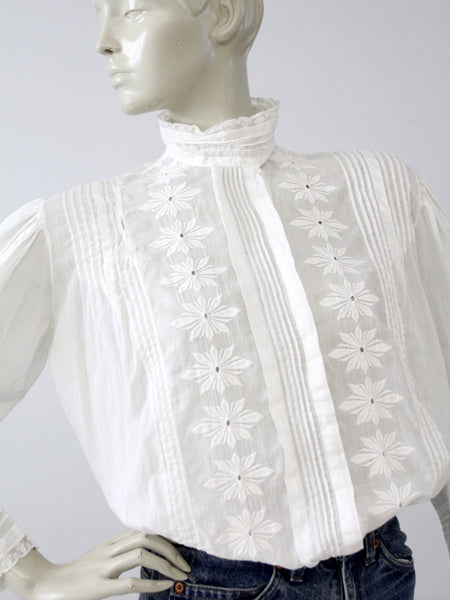 antique ruffle blouse