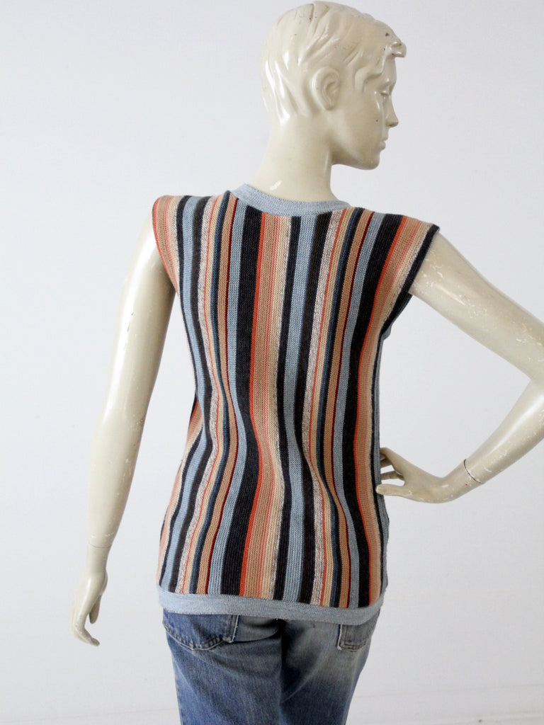 vintage 80s striped knit vest