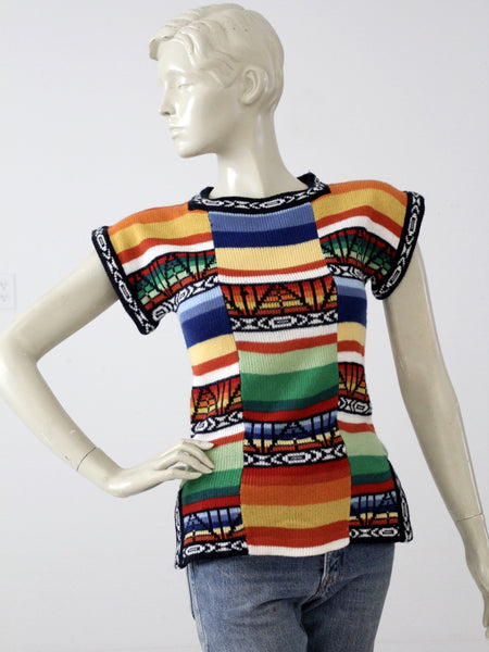 vintage 70s hippie knit top