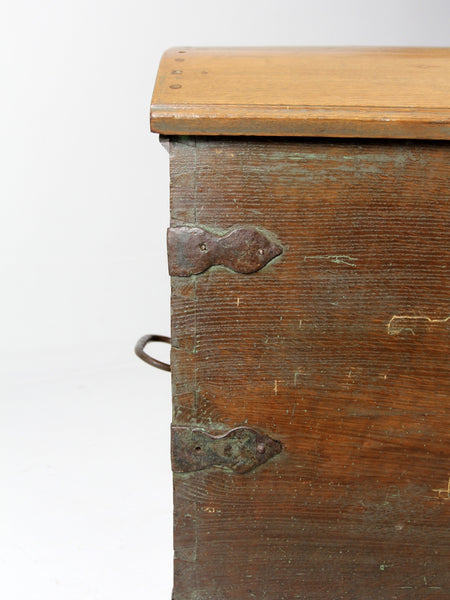 antique wood trunk