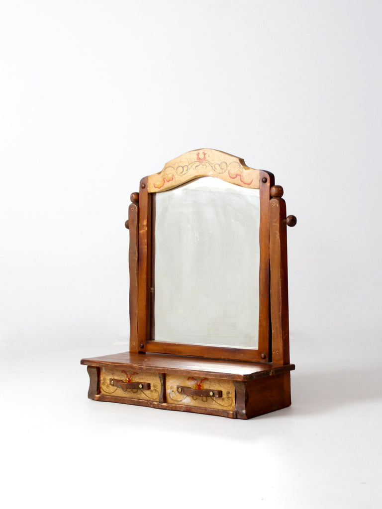with stand mirror on antique design clever vintage vanity