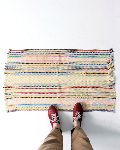 vintage stripe throw rug, 41 x 24