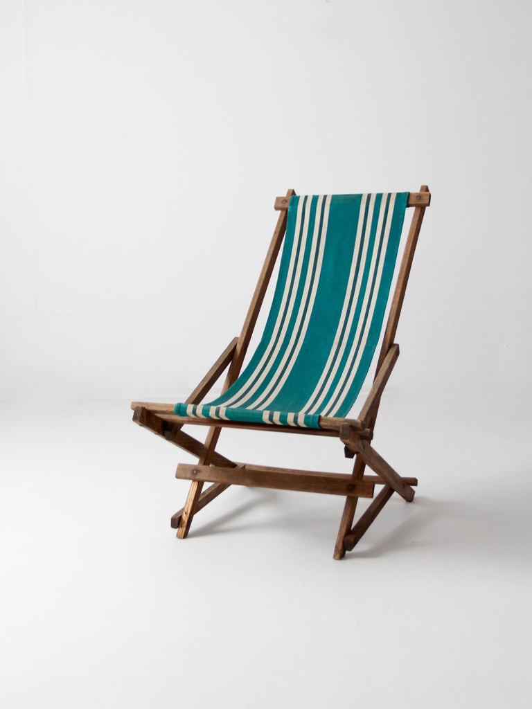 vintage American deck chair