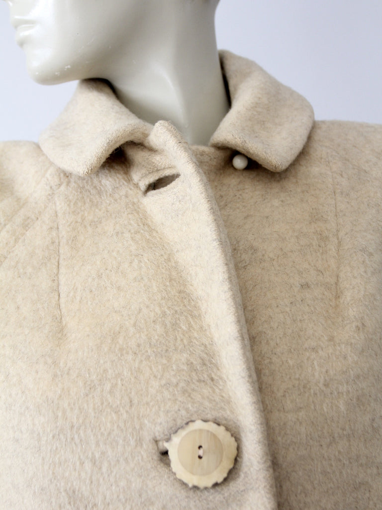 vintage 50s wool blanket coat
