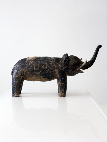 antique wood elephant