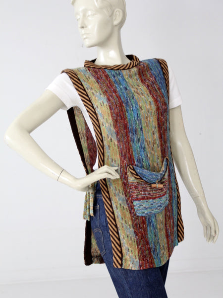 vintage 70s knit tunic by Faded Glory
