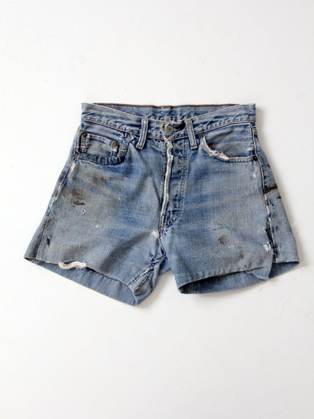 vintage Levi's 550 black denim cut offs, waist 30