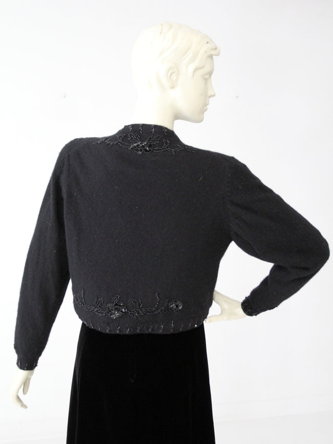 vintage beaded cardigan sweater
