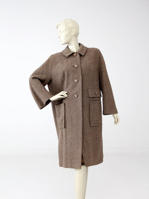 vintage 50s wool swing coat