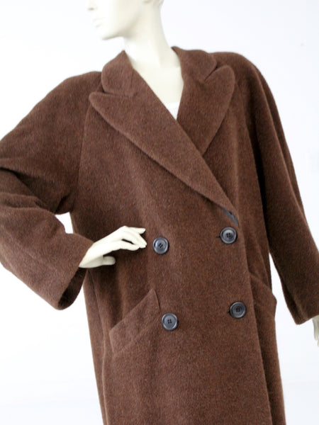 vintage Krizia mohair double breasted top coat