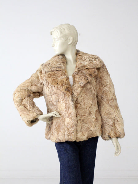 Rabbit fur coat vintage