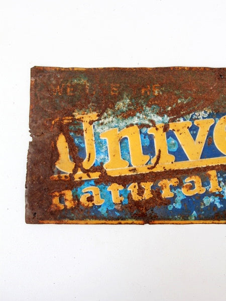 vintage Universal Natural Milker farm advertisement sign