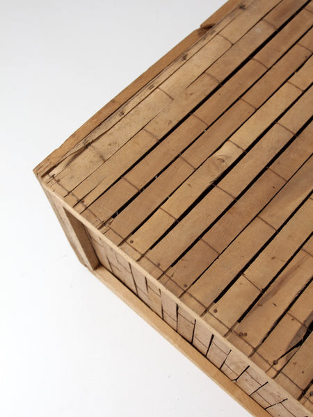 vintage slat wood shipping crate