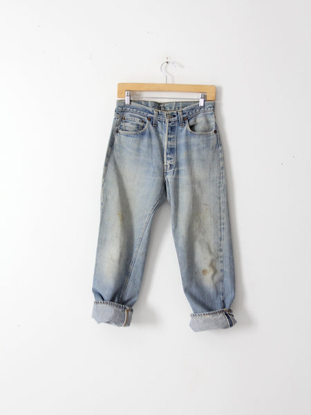 Levis 501 red line selvedge denim jeans ca 1969, 30 x 27