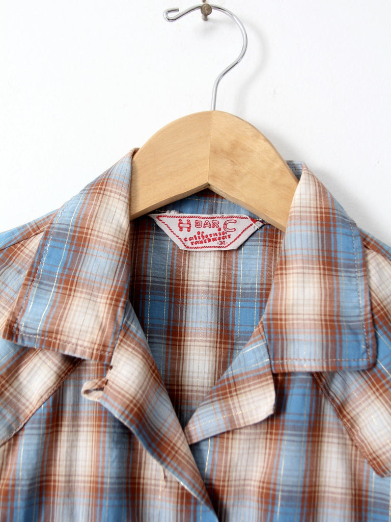 1960s H Bar C women's ranchwear shirt