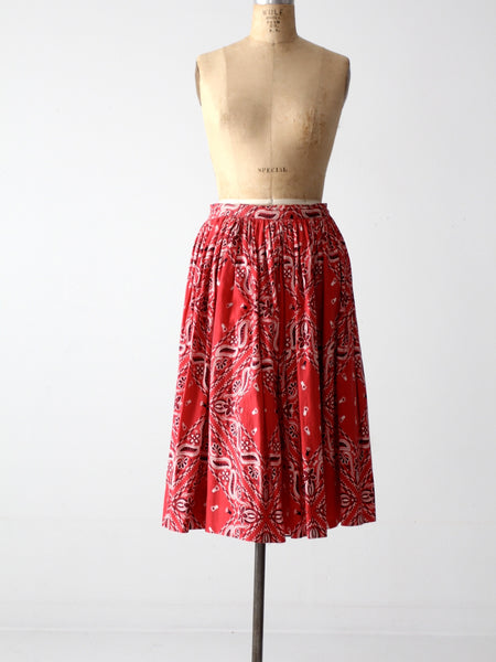 vintage 50s circle skirt with bandana print