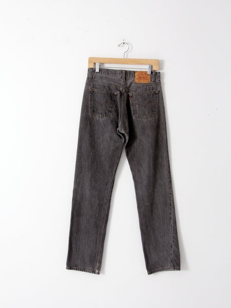 vintage Levi's 501 black denim, 30 x 32