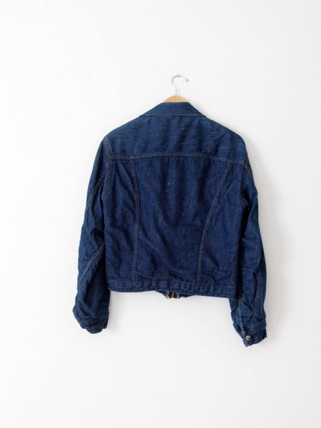 vintage 70s Montgomery Ward denim jacket with blanket lining