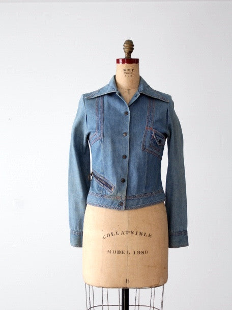 vintage 70s fitted denim jacket