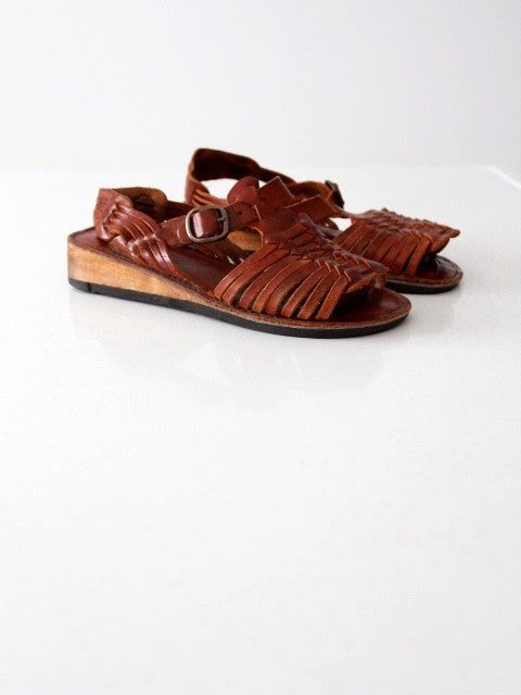 vintage huaraches sandals, women's size 7.5