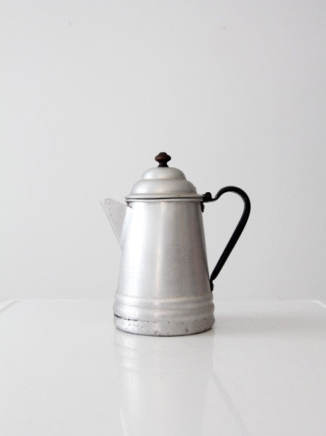 antique aluminum coffee pot