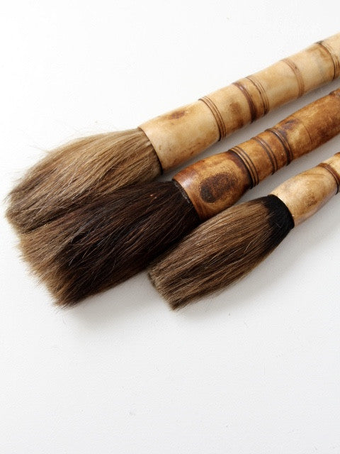 antique Chinese calligraphy brush collection