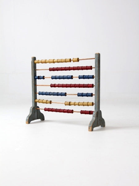 antique folk art abacus