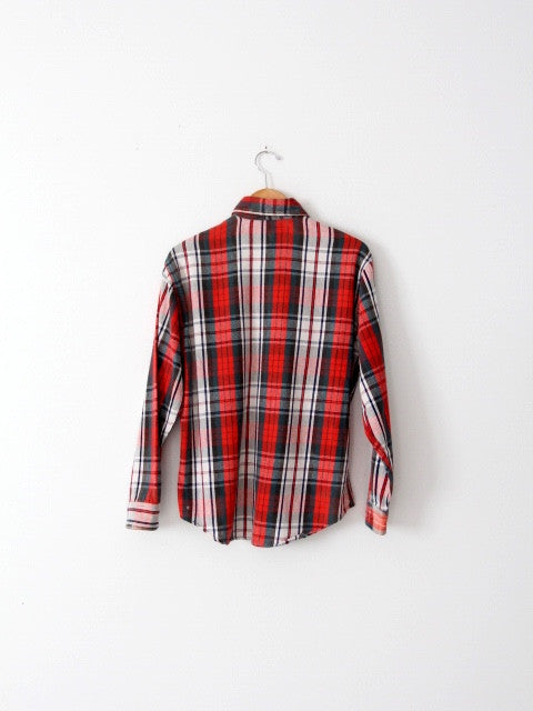 vintage Big Mac plaid flannel shirt