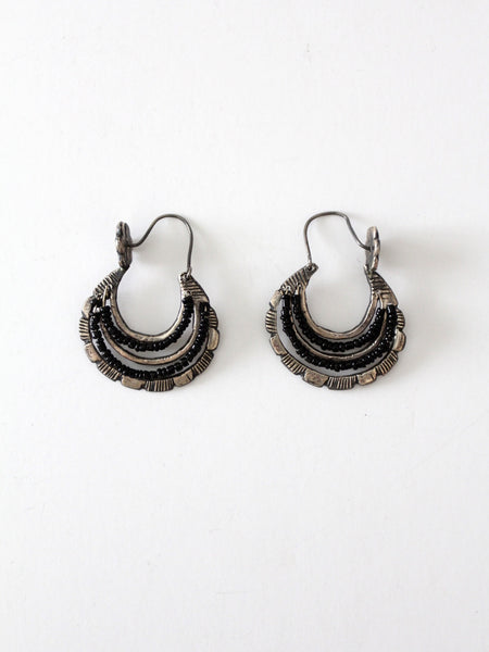 vintage Mexican dangle hoop earrings