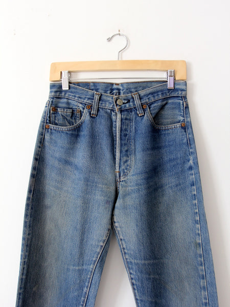 vintage Levis red line selvedge denim jeans, 29 x 31