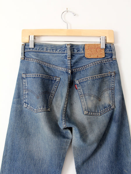 vintage Levi's 501 red line selvedge jeans, 29 x 31