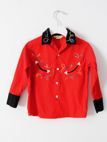 vintage children's western shirt by Esskay Clothing for Lads