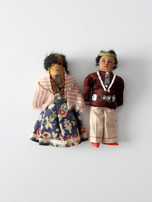 Native American doll pair