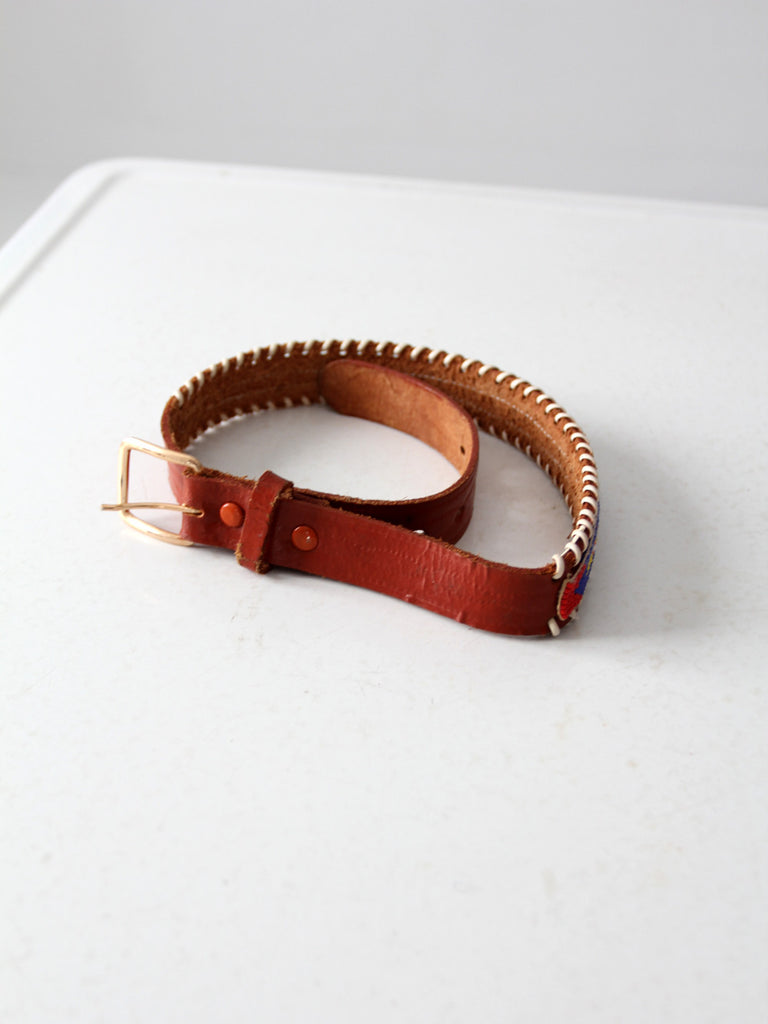 vintage beaded children's western belt
