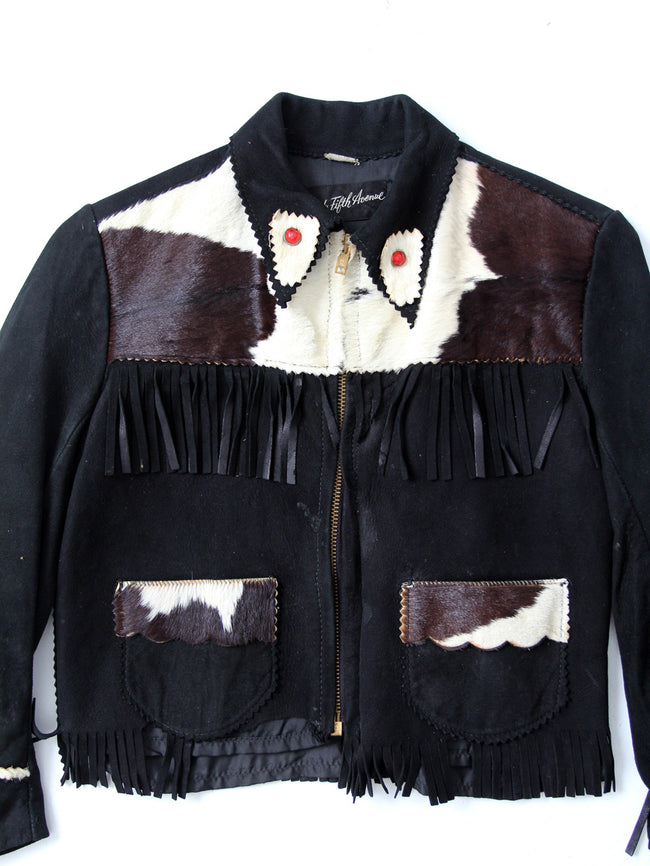 vintage children's western leather jacket