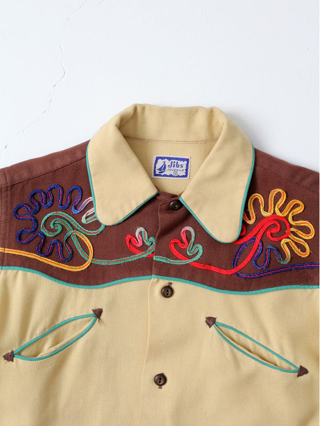 vintage 50s children's western shirt
