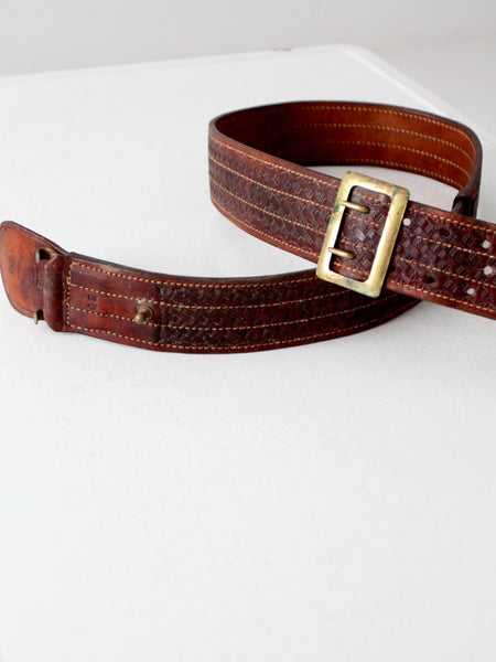 vintage leather utility belt by Bucheimer Clark