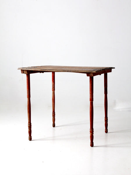 antique wooden folding table