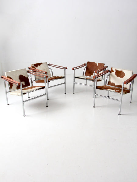 vintage Le Corbusier LC-1 sling chairs collection of 4