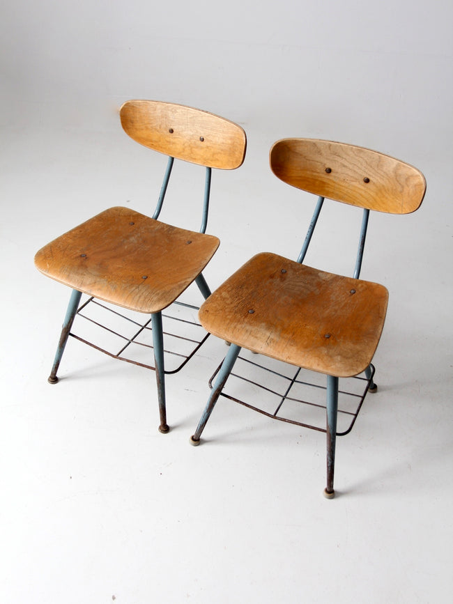 mid-century school chairs