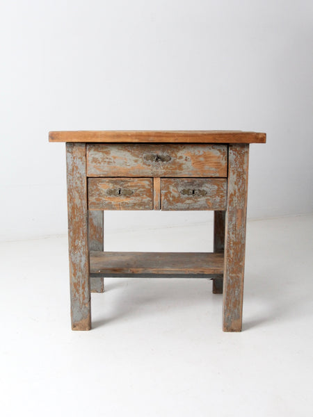 antique table with drawers