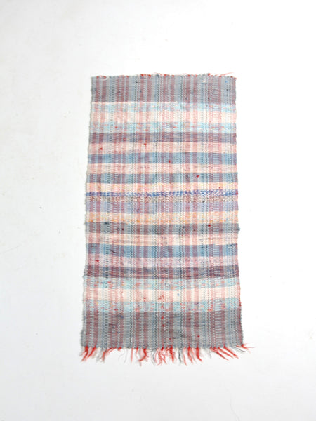 vintage striped rag rug
