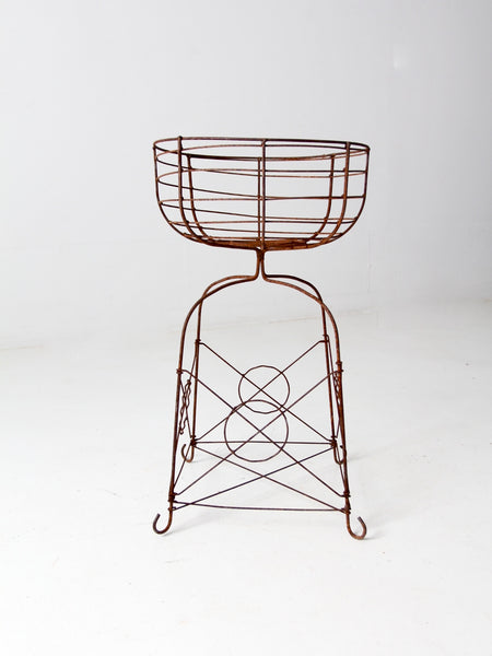 antique iron garden chair