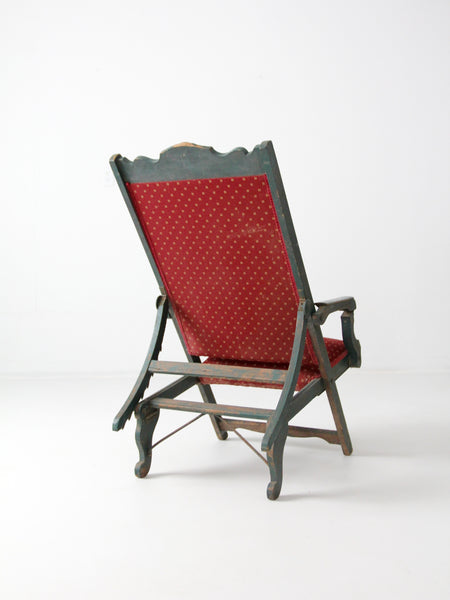 Victorian reclining lawn chair