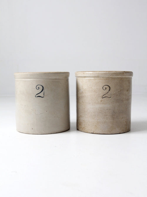antique stoneware crocks