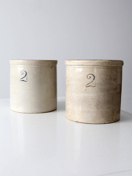 stoneware crocks two gallon