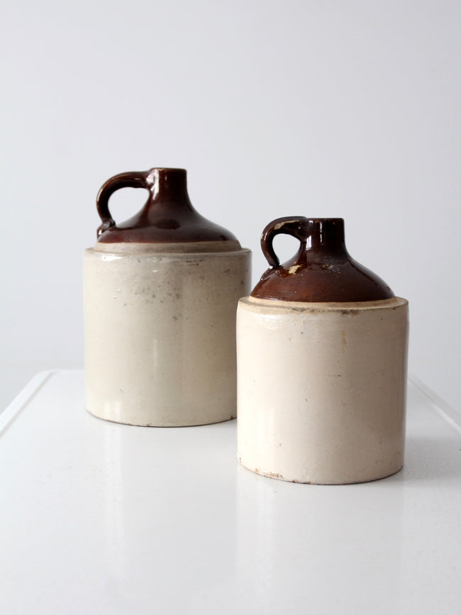 antique stoneware jugs set