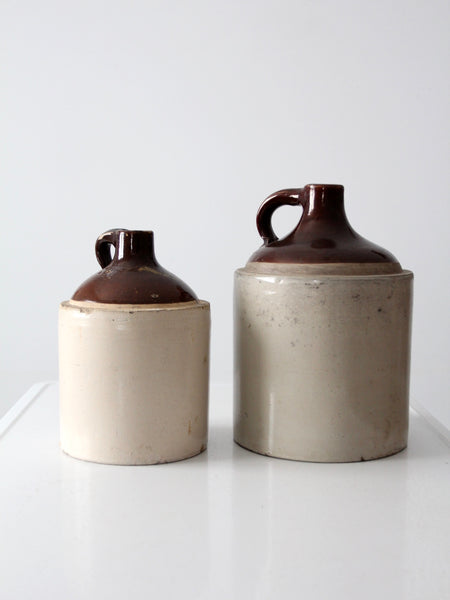 antique stoneware jugs - set of 2