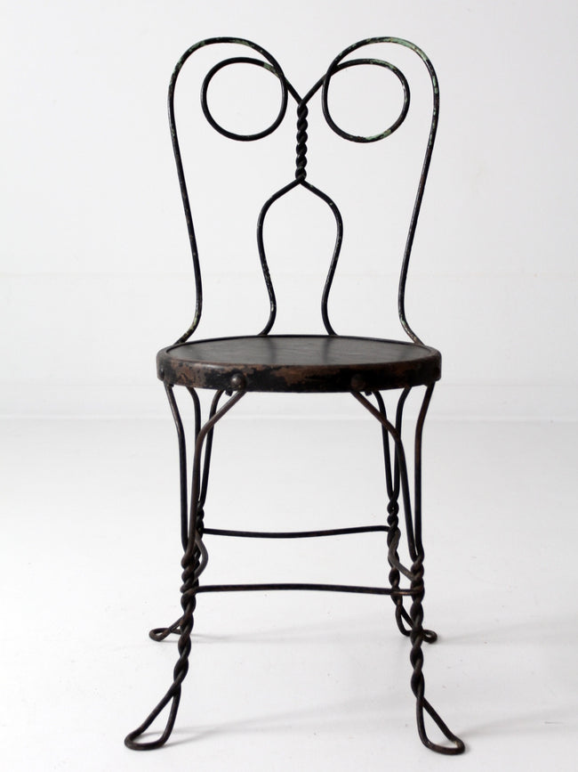 vintage black ice cream parlor chair